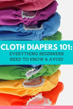 Cloth Diapers 101: A very detailed guide on cloth diapering for beginners! This guide covers everything from the different types of cloth diapers, how to use them and laundry. Click to read everything you need to know about cloth diapers and some great tips.