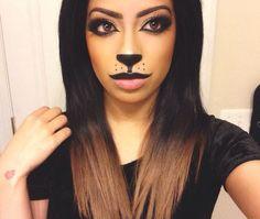 Lioness makeup #halloween