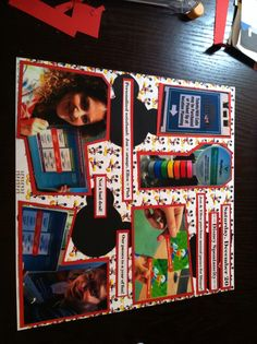 First Sunday funday scrapbook page done