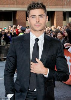 Poster boy turned Paperboy: Zac Efron at tonight's Toronto premiere of his new movie The Paperboy