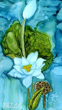 Lotus by Maria Pazos Alcohol Inks