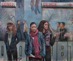 Painter Tim Okamura Offers an Urban Narrative in Two Exhibitions Tim Okamura, Canadian Painters, School Of Visual Arts, National Portrait Gallery, African Diaspora, African American Art, Museum Of Modern Art, S Pic, Figurative Art