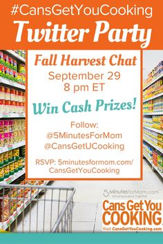 Cans Get You Cooking Fall Harvest Twitter Party #CansGetYouCooking sponsored
