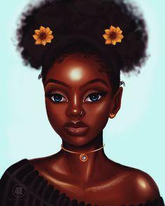 Free for personal use Afro Girl Drawing of your choice Black Love Art, Black Girl Art, Black Girl Magic, Art Girl, Black Girl Cartoon, Natural Hair Art, Black Art Pictures, Art Africain, Black Art