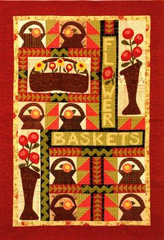 Flower Baskets~this quilt would be cute done in felted wools!!