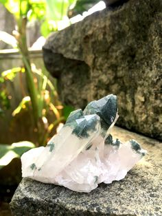 Himalayan Quartz Cluster with Chlorite Phantoms 70 gm, Nepal, Reiki, Mineral Specimens, Meditation Stone, Pagan, Altar Stones by SacredSpaceMinerals on Etsy