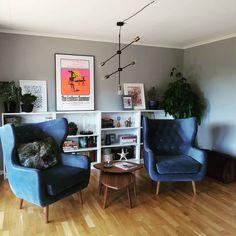Sofa Company, Go Blue, Walnut Stain, Corner Desk, Colours, Living Room, Chair, Interior, Instagram Posts