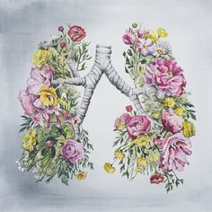 Trisha Thompson Adams - Floral Anatomy: Lungs