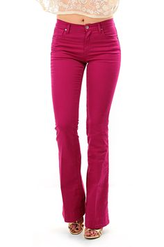 TWIN-SET SIMONA BARBIERI - Pantaloni - Abbigliamento - Pantaloni in cotone a cinque tasche con gamba a bootcut. - ECHINACEA - € 113.11
