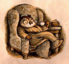 Arnold Lobel - Owl Illustration