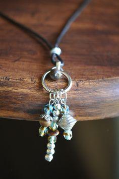 Fire Polished Glass Czech Bead Boho Charm Necklace  $10 by LaceCharming