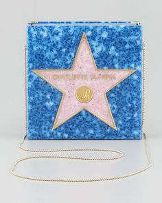 ShopStyle.com: Charlotte Olympia Walk of Fame Matchbox Clutch Bag, Blue $995.00