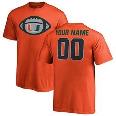 2ad55c5b4b1 Miami Hurricanes Fanatics Branded Youth Game Ball Personalized T-Shirt –  Orange