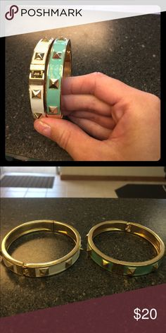 Two beautiful bracelets. Only worn twice Bracelets. And beautiful condition no tarnishing and nothing is missing Jewelry Bracelets