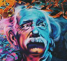 Einstein Digital Art  by MyInkTees