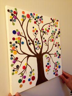 tableau avec des boutons les 4 saisons arbre pinterest. Black Bedroom Furniture Sets. Home Design Ideas