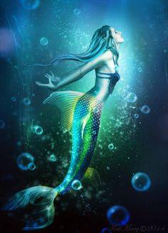 Mermaid by katmary on DeviantArt Mermaid Cave, Siren Mermaid, Mermaid Fairy, Mermaid Artwork, Mermaid Drawings, Mermaid Tattoos, Fantasy Mermaids, Mermaids And Mermen, Real Mermaids