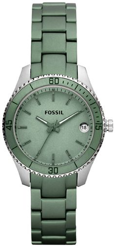 #Fossil #Watch , Fossil Stella Mini Aluminum and Stainless Steel Watch Green