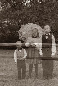 Ghosts in the Graveyard! love this! Would much rather do a double exposure shot to avoid the photoshopping