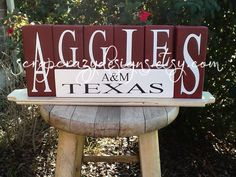 Texas A&M Aggies Wood Block Set would be a great gift to your Aggie couple on their wedding day!  Follow thehowdyweddingguide on Instagran for more Aggie wedding shares! Texas A&m, Wood Blocks, Couple Gifts, Groom, Great Gifts, Wedding Day, Gift Ideas, Bride, Awesome