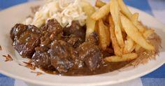 En dat is hem dan, DE Vlaamse klassieker: Stoofvlees met friet!