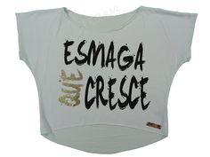 Blusas Femininas | Blusa Cropped Esmaga Que Cresce Branca  Acesse: http://www.spbolsas.com.br/atacado/ #Regatas #Femininas #Atacado