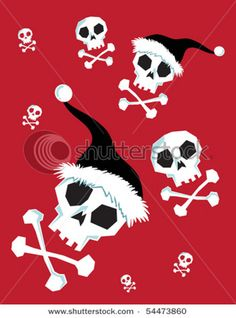 Buy Christmas Skulls custom fabric, wallpaper and home accessories by herewesewagain on Spoonflower Memento Mori, Dark Christmas, Xmas, Skull Wallpaper, Book Wallpaper, Crane, Statues, Danse Macabre, Skulls And Roses