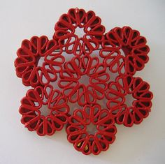 Red Staple brooch $650 by Anna Whitley by Inform Contemporary Jewellery, via Flickr