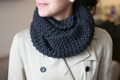 free knit infinity scarf pattern