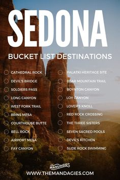 Sedona Bucket List Destinations Sedona is one of the most beautiful destinations in the American Southwest! We're here sharing the best places to see and things to do in Sedona. Save this pin for your next vacation to Arizona! Arizona Road Trip, Arizona Travel, Sedona Arizona, Road Trip Usa, Hiking In Arizona, Usa Roadtrip, Travel Oklahoma, Phoenix Arizona, Bucket List Destinations