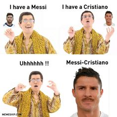 Meme PPAP Cristiano Messi.