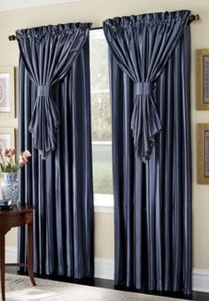 Browse our huge collection of curtains and draperies, from window valances and drapes to floral curtains and stylish sets in every color. Buy now, pay later. Curtains And Draperies, Striped Curtains, Home Curtains, Window Curtains, Bedroom Windows, Valance, Drapery Panels, Curtain Styles, Curtain Designs