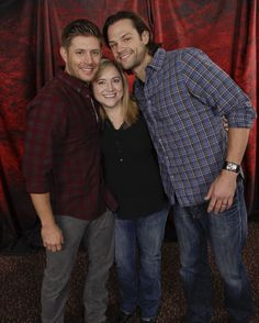 That's me, LeisaJane, with Jensen and Jared!  Not a great pic. But you can see I have my priorities right...I'm leaning way toward Jensen!  And like my other photo ops, I barely remember this.  I don't remember my arms around them.  I DO remember that Jared smelled great!  #ChiCon2013  (If you repin, please keep my name in description...thanks!)