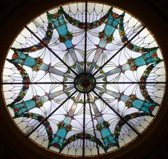 stained glass oculus ~ Watertown, NY