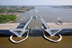 Woodrow Wilson Bridges... Oxon Hill Maryland to Alexandria Virginia on the Potomac River.