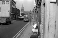 Clanbrassil Street, 1974. The street was under assault at the time, being slowly demolished to facilitate the dual carriageway widening of the 1980s (via Dublin City Libraries Collection)