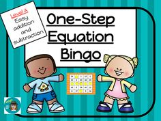 One-Step Equations Bingo - Addition and Subtraction - Level A