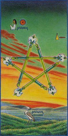 5 de bâtons - Ibis Tarot