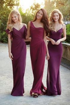 Bridesmaids dresses by Jim Hjelm in lovely fall colours! #bridesmaids #dress #fall