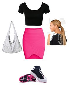 """""""jays on my feet"""" by my-savage-self ❤ liked on Polyvore featuring women's clothing, women, female, woman, misses and juniors"""