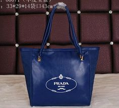 Real Purses Online Smooth Leather Shoulder Bag Royal - - Smooth Leather- Brass hardware- Double leather handles- Top zip Closure- Signature Prada logo on front- Fine Prada textile lining- Inside zip pocketSize: x x cm Leather Handle, Smooth Leather, Leather Shoulder Bag, Shoulder Bags, Prada, Tote Bag, Purses, Handbags, Shoulder Bag