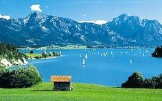 Lake Starnberg, located in southern Bavaria 25 kilometres (16 mi) southwest of Munich Germany