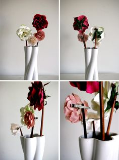 What to do with flower hair clips? A DIY flower arrangement of course!