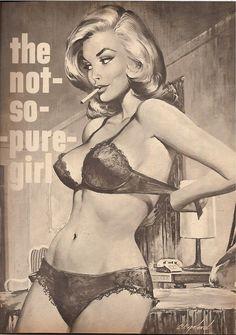 "cupcakekatieb-eyecandy: honey-rider: Charles Copeland July 1965 - ""The Not-So-Pure Girl"" detail ❤️!!!"