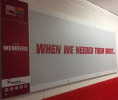 """Hull Kingston Rovers """"When we needed them most..."""" The name of every 2017 member is now proudly displayed in the first team dressing room #RoversForever"""