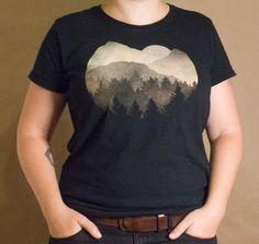 Forest Sunset T-Shirt Bleach Design Kid's Shirt original