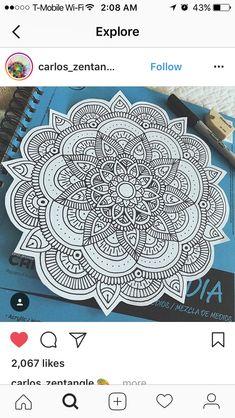 Doodle Art Drawing, Mandala Drawing, Mandala Painting, Art Drawings, Mandala Doodle, Mandala Art Lesson, Zantangle Art, Pen Art, Zentangle Patterns