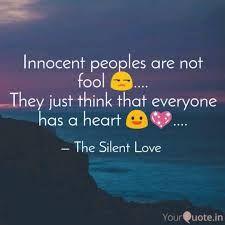 Silent Love, Innocent People, The Fool
