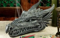dragon head mold for plaster or concrete LATEX ONLY