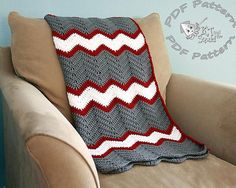 Instant download, Crochet afghan pattern, chevron blanket pattern, crochet throw patten, easy baby blanket pattern, permission to sell on Etsy, $4.00